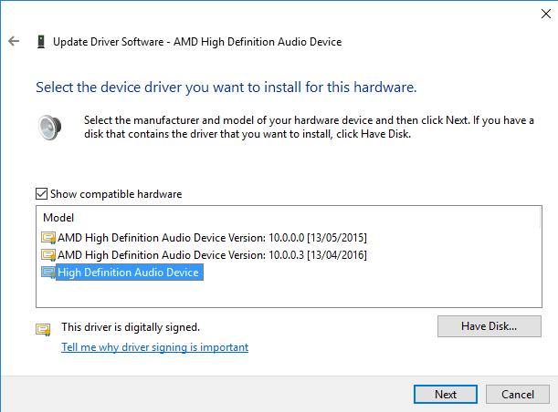 Fix Realtek High Definition Audio Driver Issue for Windows