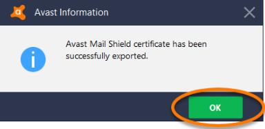 Avast Internet Security – export certificat – Astuces informatiques
